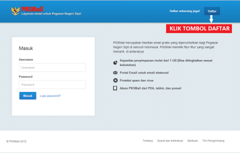 Cara Daftar Email PNS (@pnsmail.go.id)