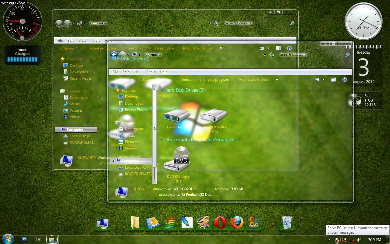 Cara Merubah Tema Windows 7 Menjadi Transparan Infonetcmu