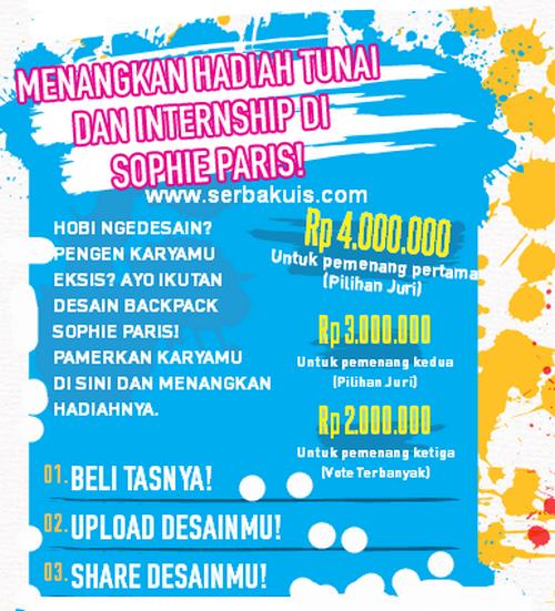 Kontes Desain Backpack Berhadiah Uang Total 9 JUTA