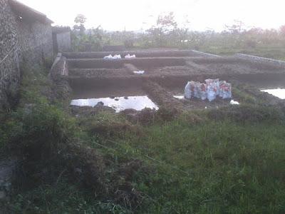Bikin Kolam Ikan di Wonosobo