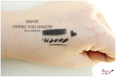 Makeup Defa Cosmetics ,eyepencil black, graphite, swatches