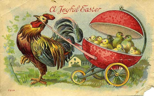 Carte postale ancienne Joyeuses Paques
