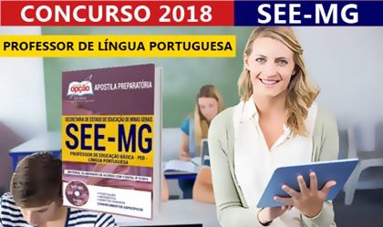 Apostila Concurso SEE-MG 2018 Professor de Língua Portuguesa - Edital 2018