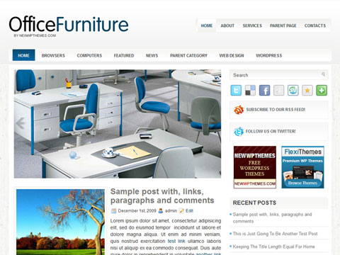 OfficeFurniture Free WordPress Theme
