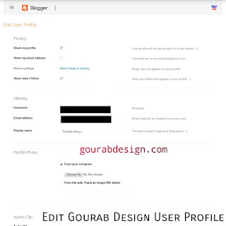 Edit Gourab Design User Profile