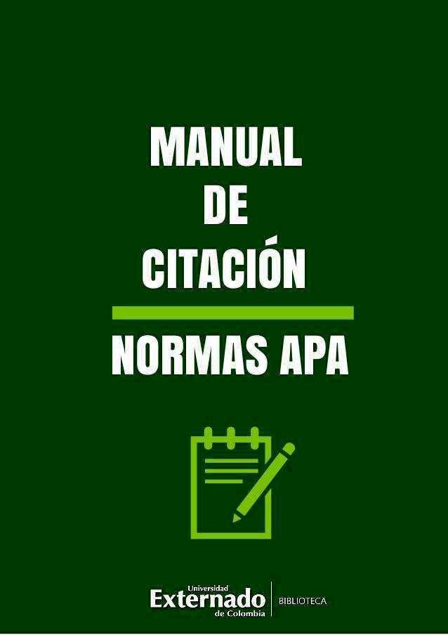 Manual de citación: Normas APA
