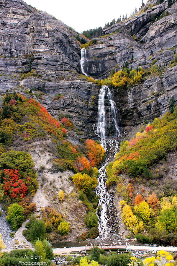 Bridal Veil Falls Provo Utah Autumn Colors