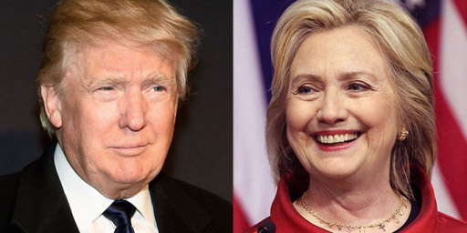 HIllary Clinton leads Donald Trump in head-to-head matchups