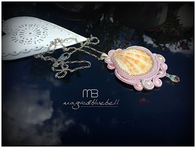 Soutache shell pendant