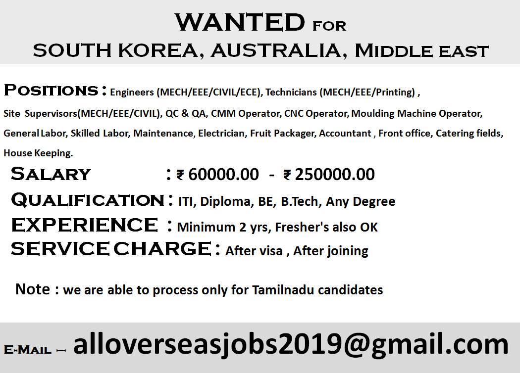Overseas Job Vacancies