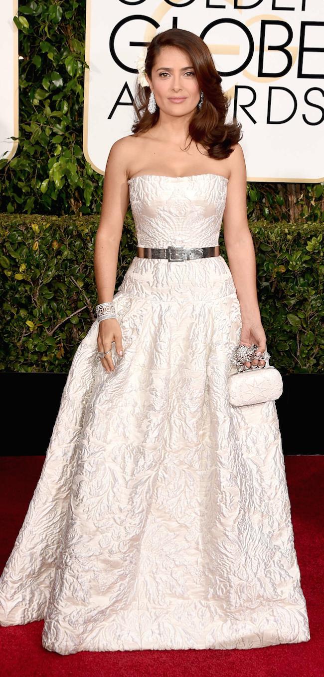 Salma Hayek 2015 Golden Globe Awards