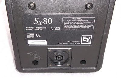 Image of Electro Voice EV sx80 speaker back view