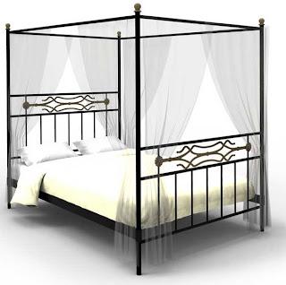 cama dosel forja, cama forja, dormitorio forja