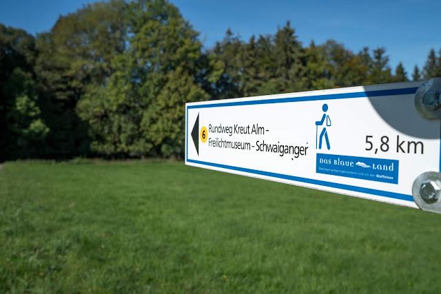 Rundweg Ohlstadt - Kreut-Alm  Freilichtmuseum Glentleiten Schwaiganger  Wandern im Blauen Land 12
