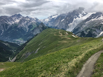 View from trail 42, Testa Bernarda looking toward Courmayeur.