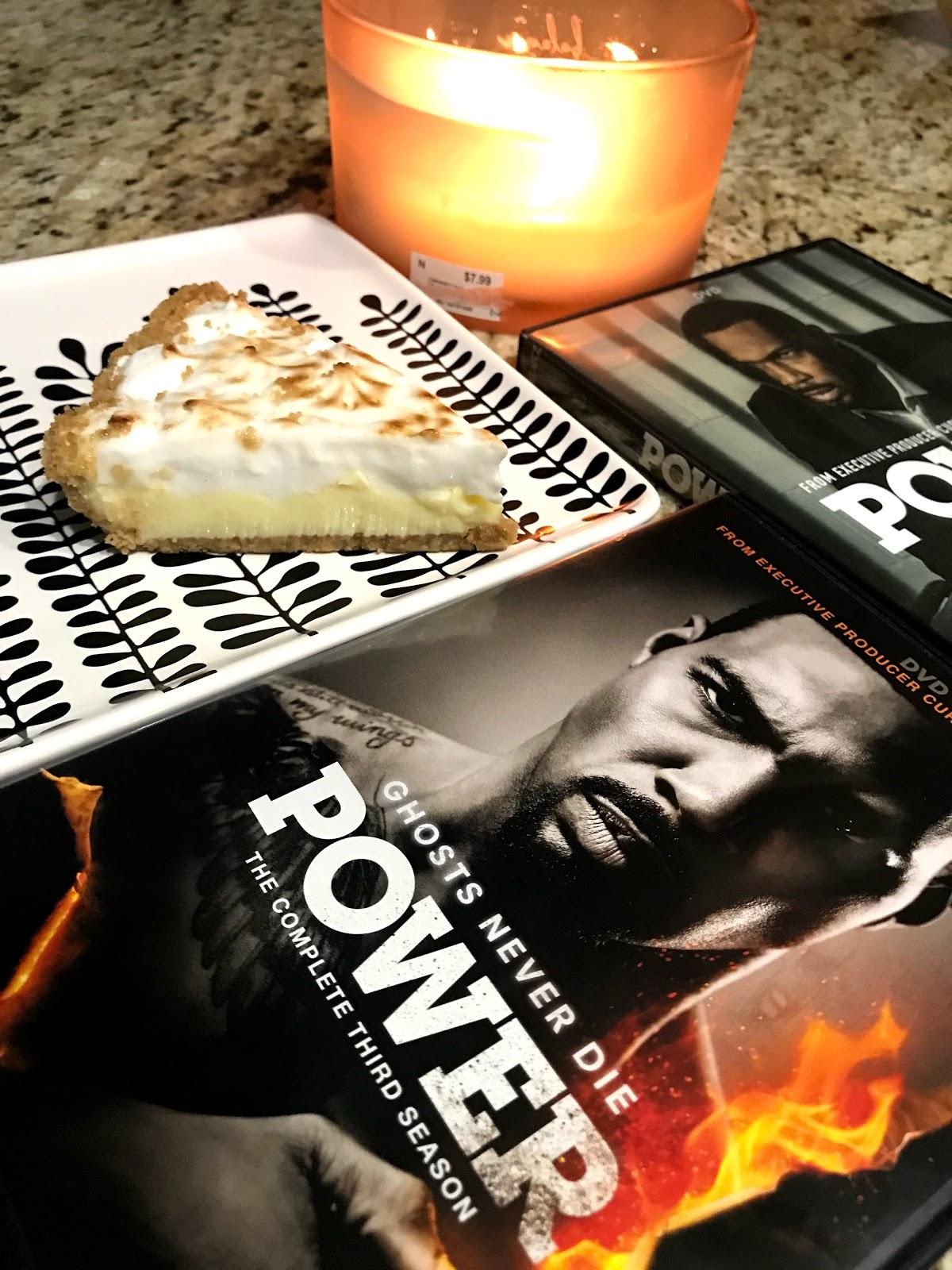 Image:Lemon  Pie and Power movie on table