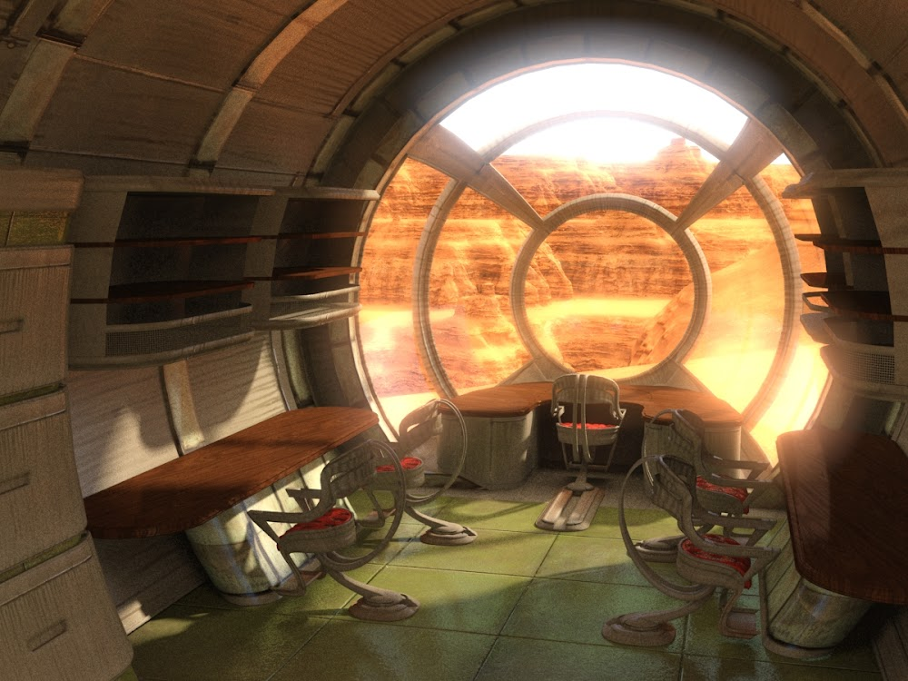 Mars house interior by Evexoian