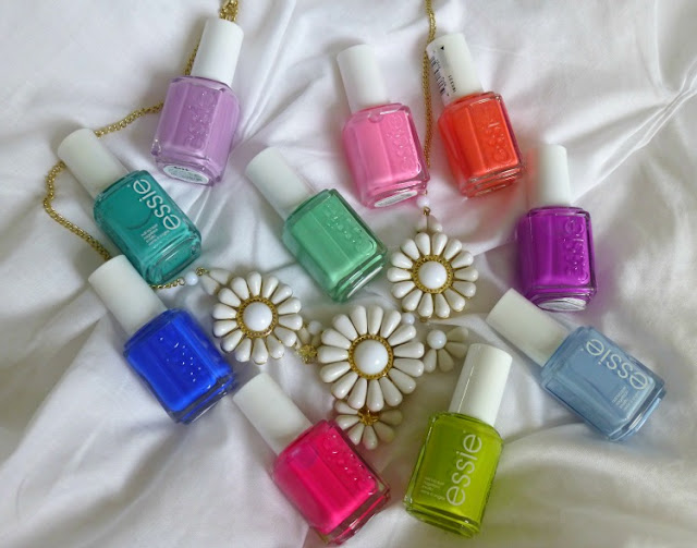 Bright Essie Nail Polishes