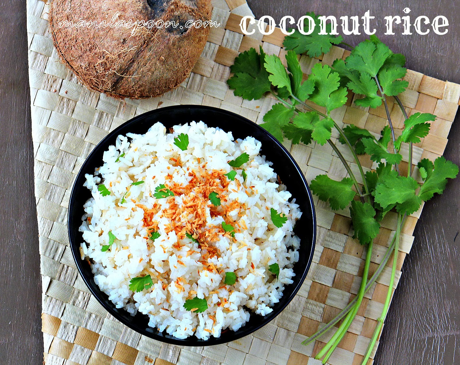 This coconut-flavored rice is deliciously healthy and a great and versatile side dish!!