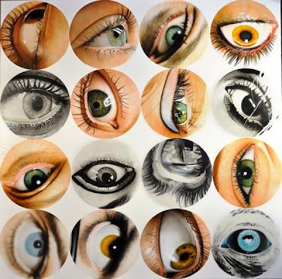 Pintura hiperrealista de ojos