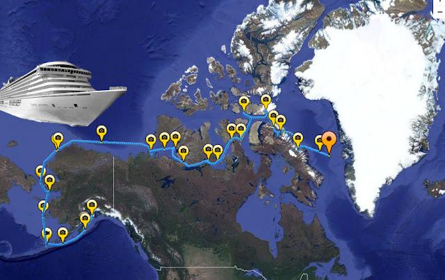 El paso del Noroeste abierto a cruceristas