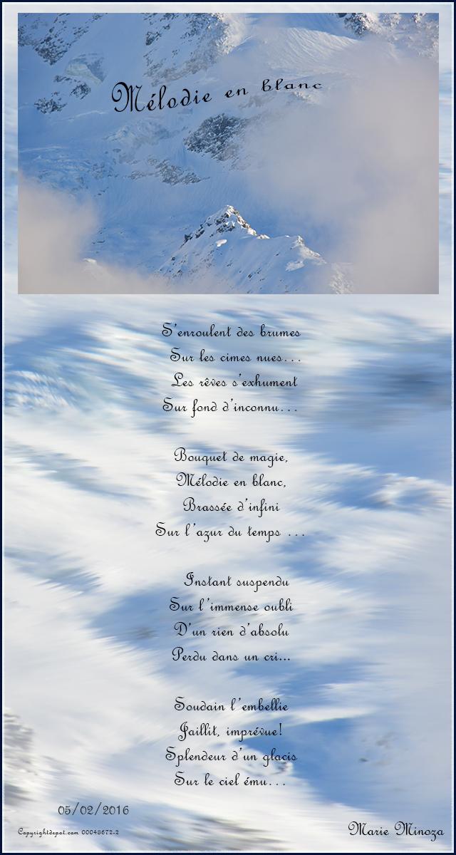 Au Pays Des Images Et Des Mots Poèmemélodie En Blanc