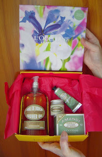 L'Occitane's Almond Shower Collection opened.jpeg