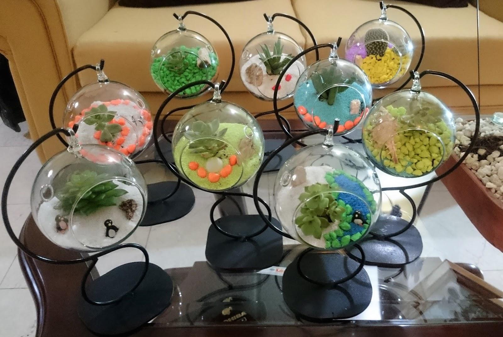 Piedras de colores terrarios colgantes mini - Decoracion para terrarios ...