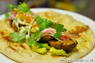 Turkey Kebab w/ Mango & Yoghurt Sauce