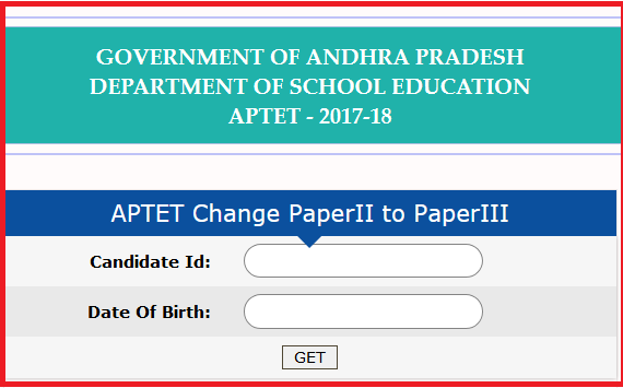 APTET Change Paper II to Paper III, Syllabus, Chance to 2016-18