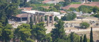 Las ruinas de Corinto desde Acrocorinto.