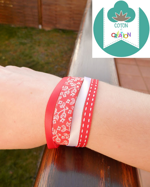 Bracelet ruban Coton et Création