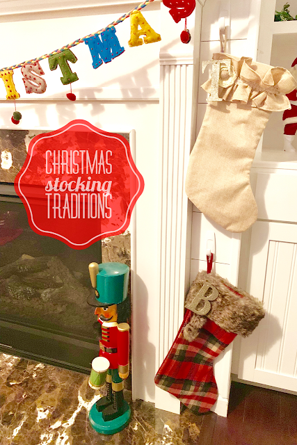 Christmas Stocking Traditions and hanging stockings by the fireplace.