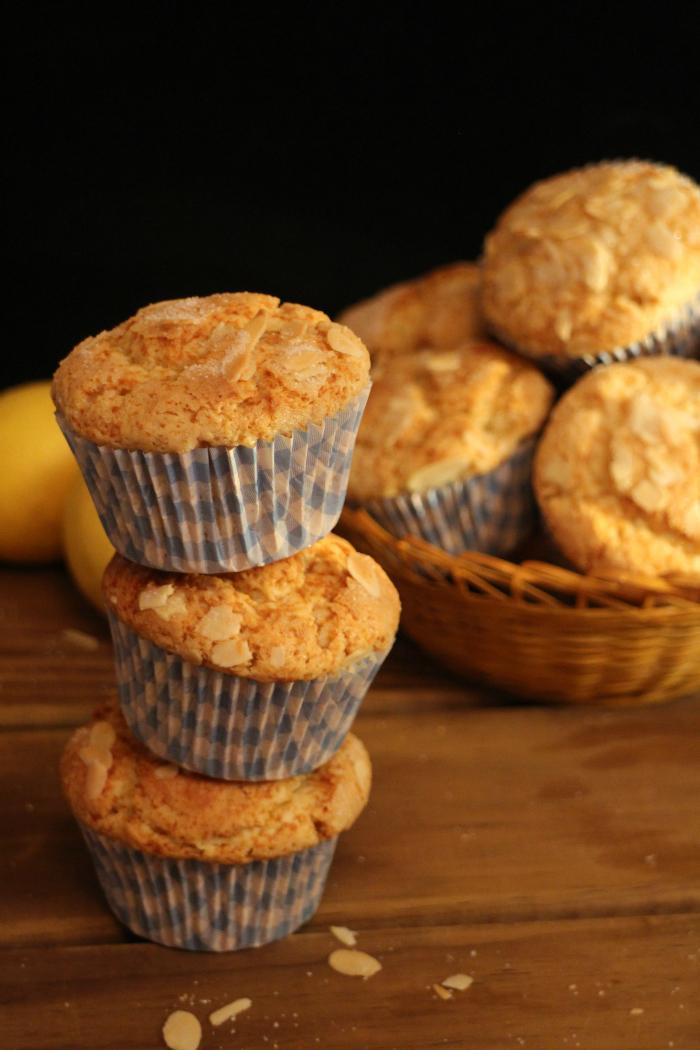 muffins-de-ricotta-limon-y-almendras, almond-lemon-muffins