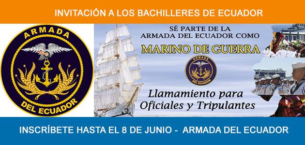 Inscripciones Armada del Ecuador 2017 Marinos de guerra
