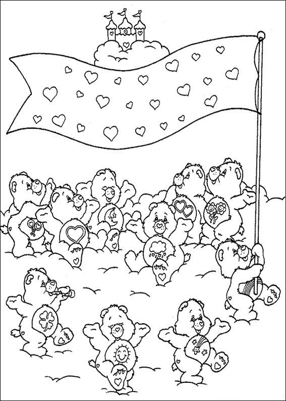 free care bear coloring pages - fun coloring pages care bears coloring pages