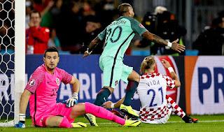اهداف مباراة البرتغال وكرواتيا 1-0 تعليق علي محمد علي - يورو 2016 بفرنسا port vs cor
