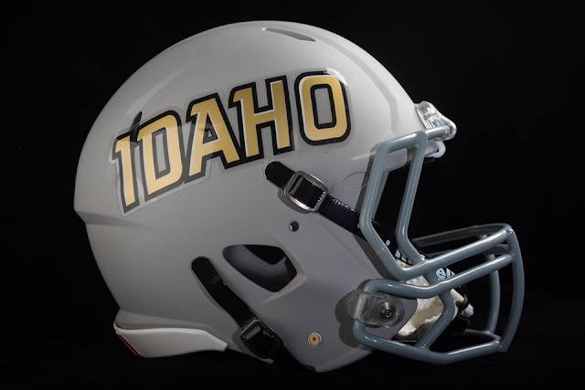Idaho Vandals grey helmet 2016