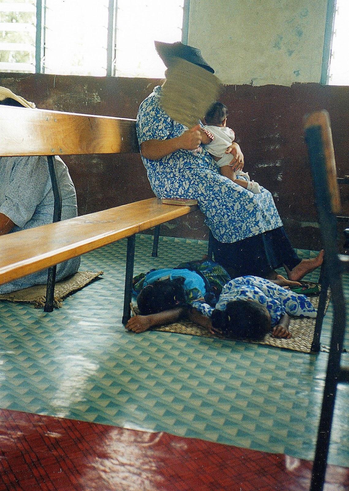 Tonga, whose inhabitants are generally avid church-goers