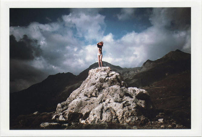 dirty photos - time - cretan landscape photo of nude girl on the mountain