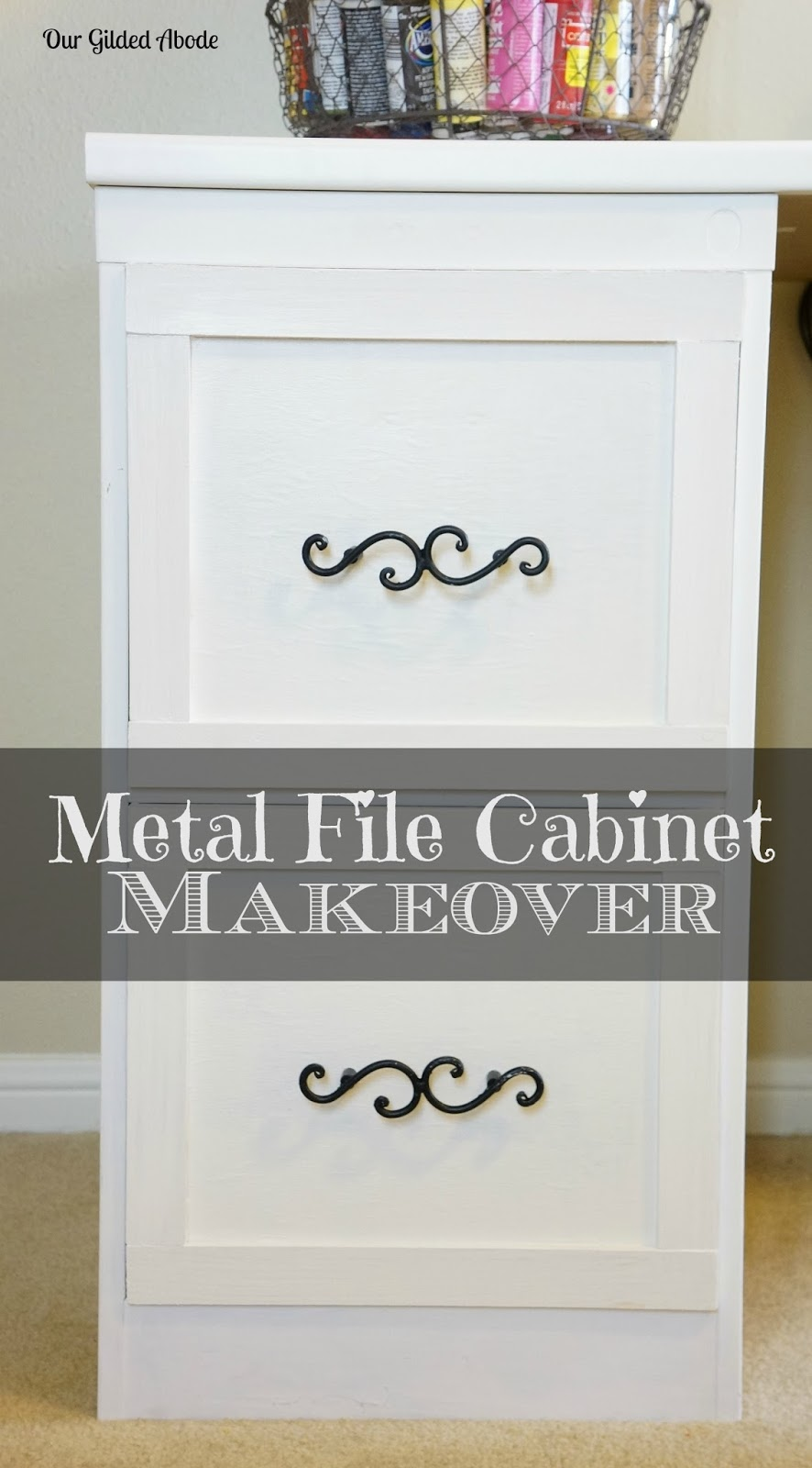 Frugal Craft Space File Cabinet Makeover