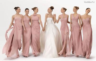 Vestidos de damas de honor para bodas