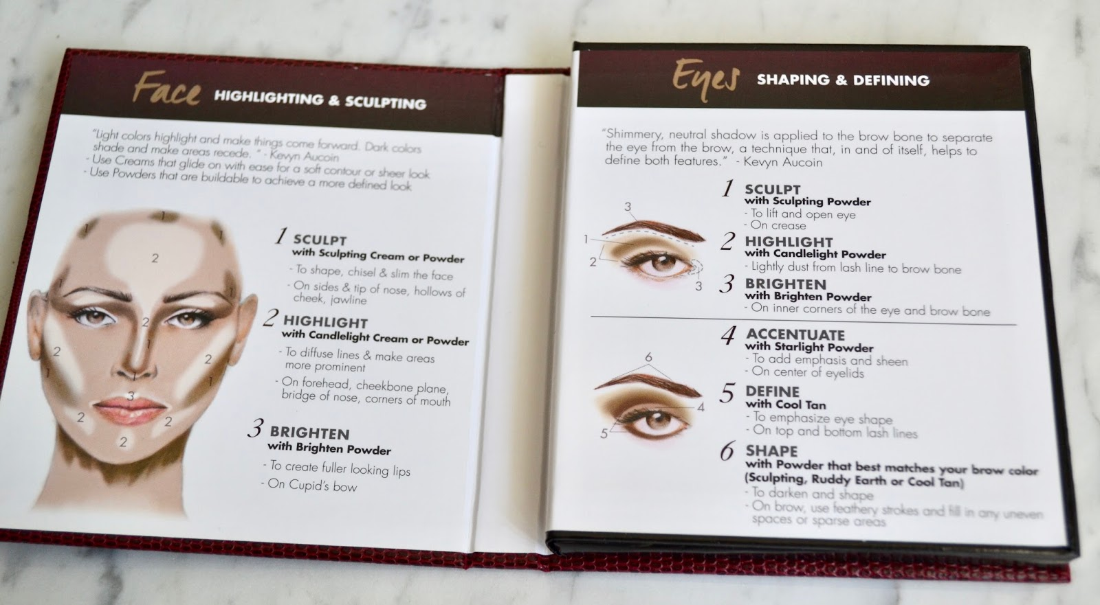 The Palette Has Everything You Need For Sculpting And Highlighting The  Face It Evenes With A Howto Guide To Show Where The Products Will  Work And Look