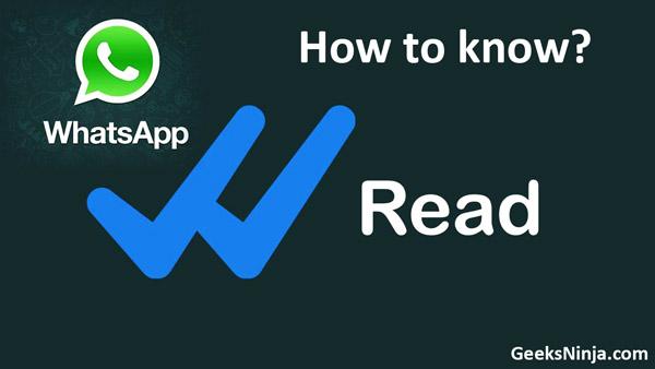 WhatsApp read message