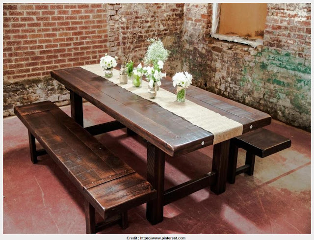 Must see Rustic Wood Dining Room Table Graphic