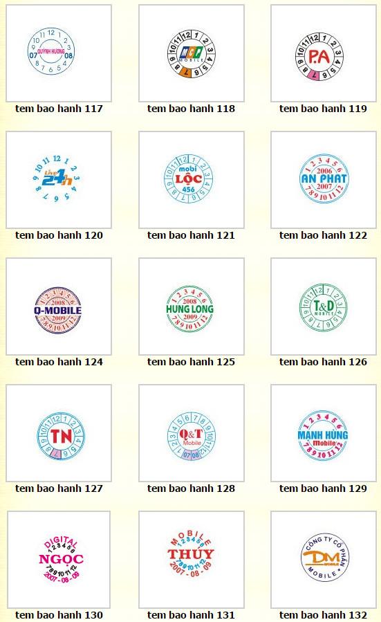 mẫu tem bảo hành - tem vỡ - Tem chống giả - in tem bảo hành tphcm