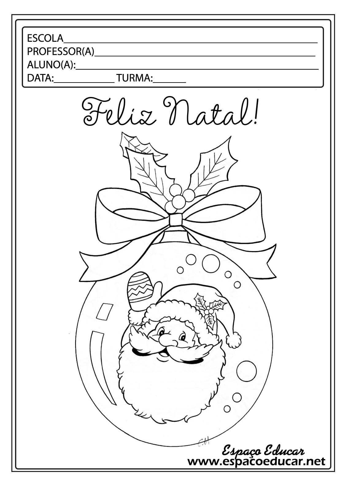 Lindos Desenhos De Natal Para Colorir Pintar Imprimir