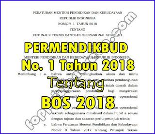 Permendikbud No. 1 Tahun 2018 Tentang BOS 2018