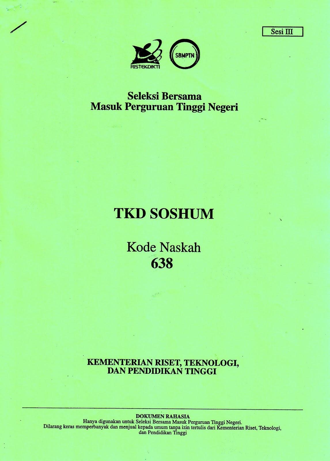 Sbmptn pdf soal bank