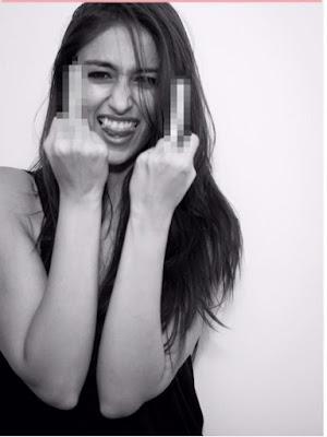 ilena showing finger